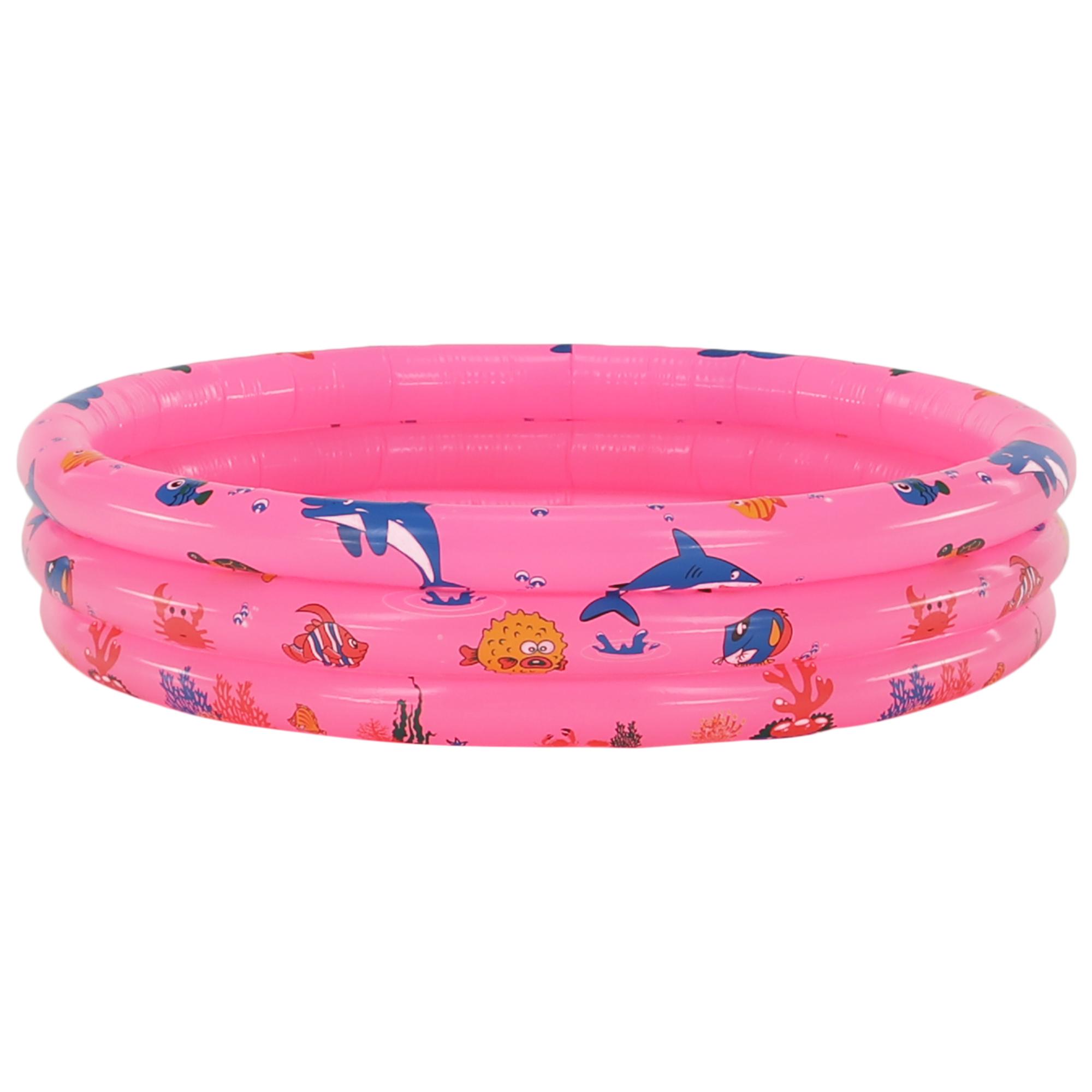 Bazin gonflabil pentru copii, roz / model, LOME