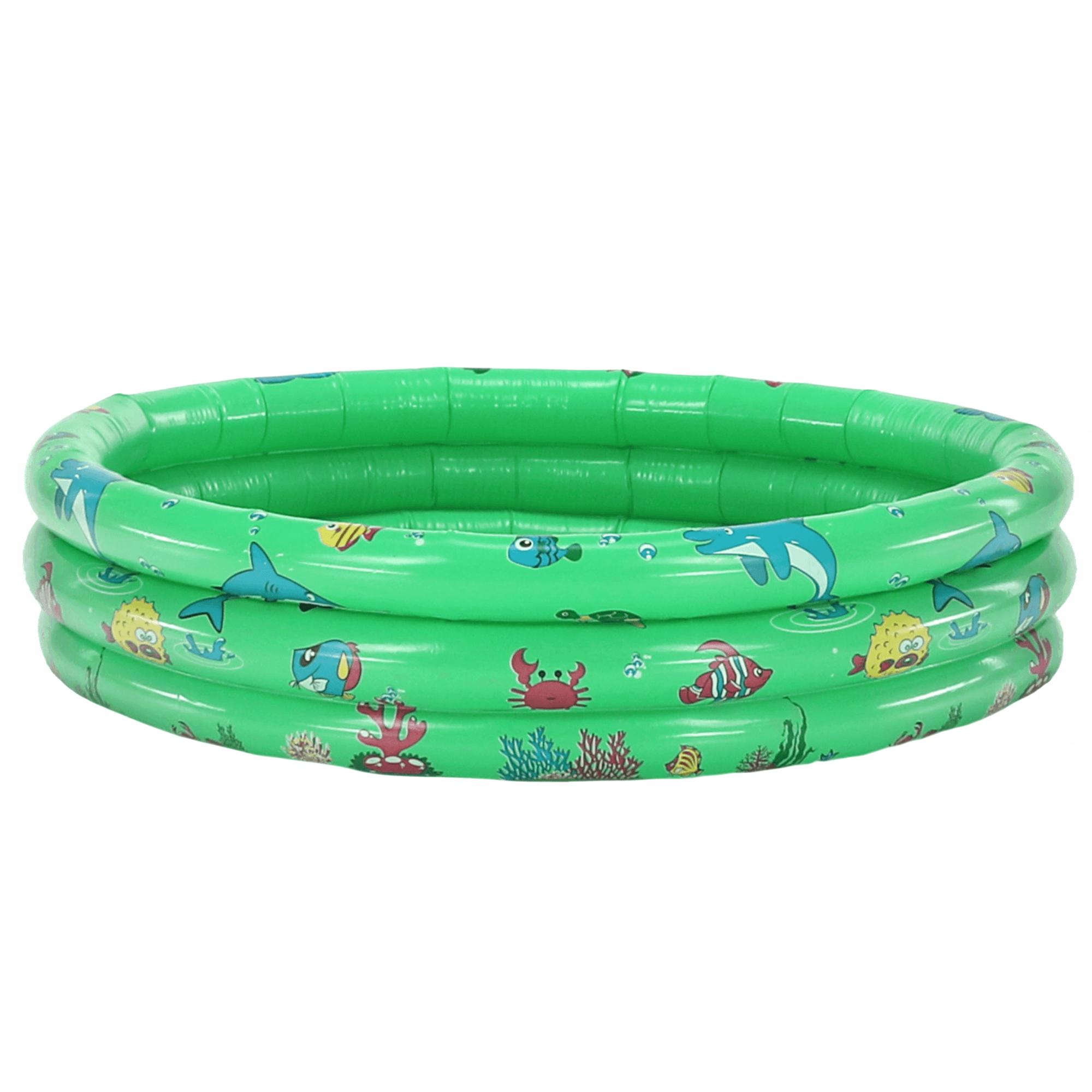 Detský nafukovací bazén, zelená/vzor, LOME