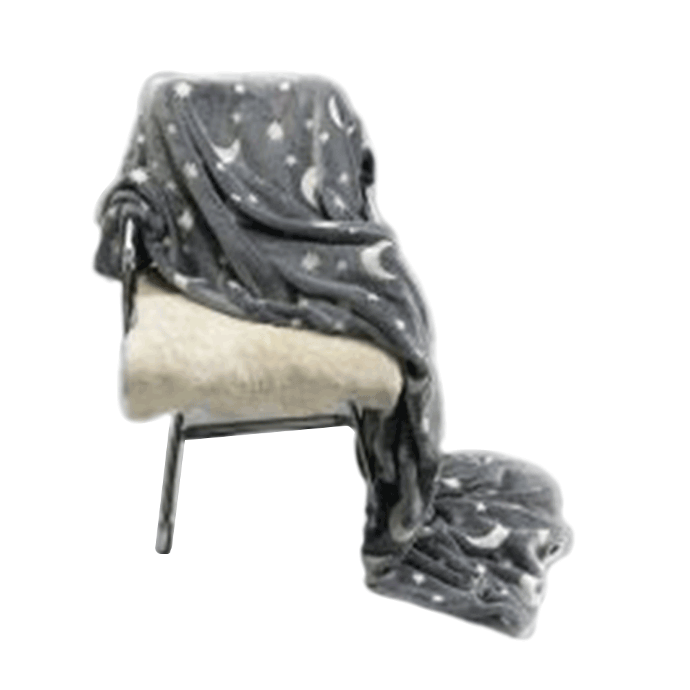 Világító takaró, szürke/mintás, 150x200 cm, GLOVIS TYP 1
