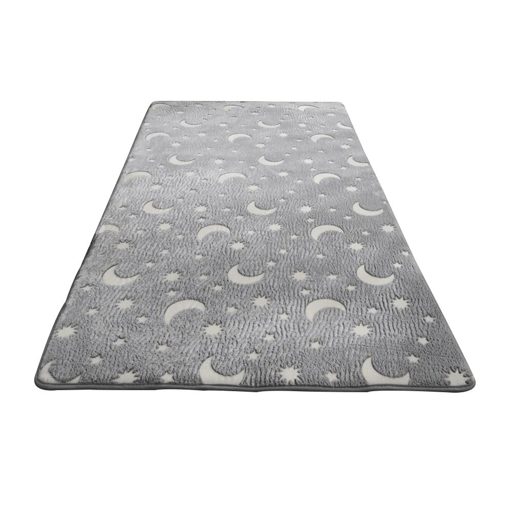Világító szőnyeg, szürke/mintás, 160x230 cm, GLOVIS TYP 1