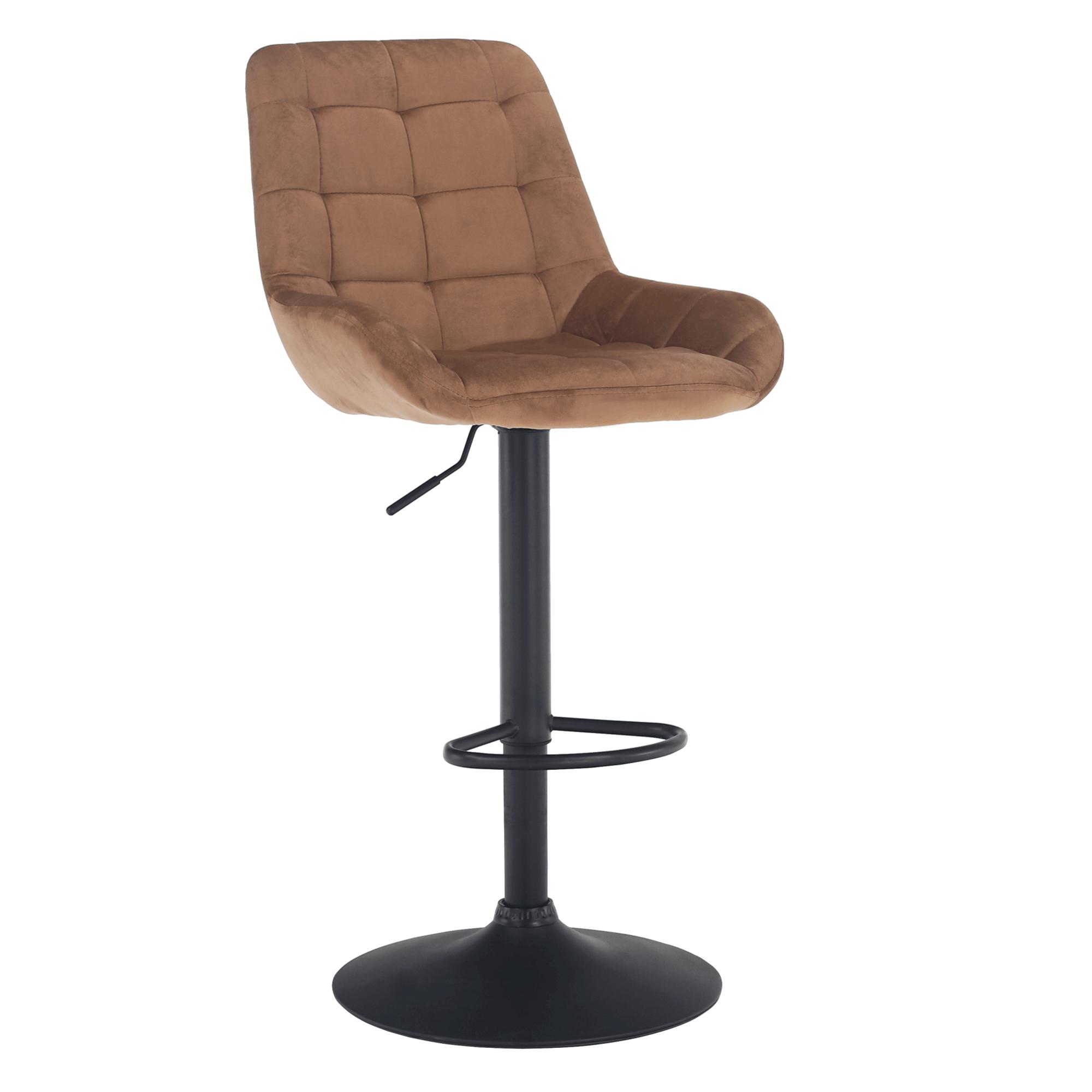 Barová stolička, hnedá Velvet látka, CHIRO NEW