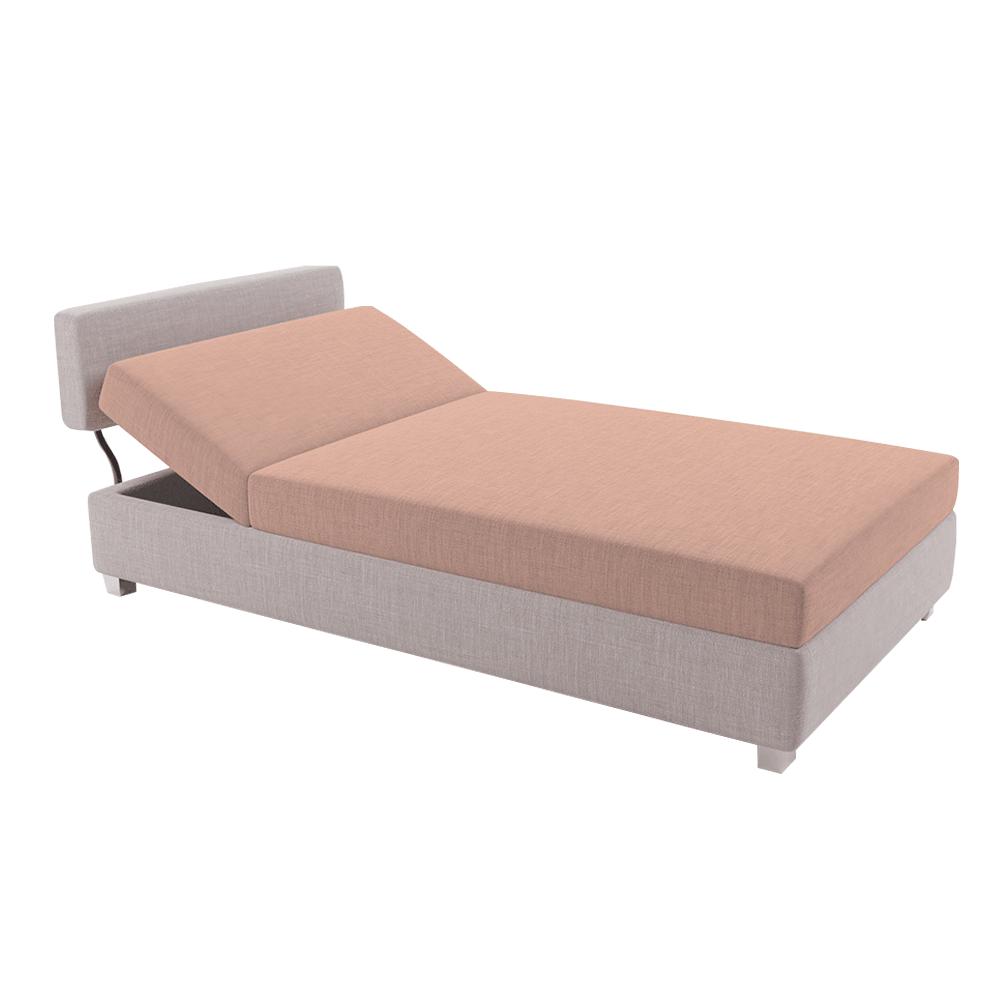 Positioning sofa, maro deschis / somon, DOMEN