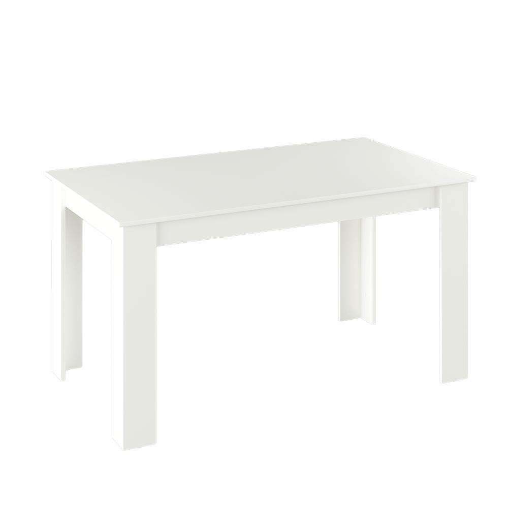 Jedálenský stôl, biela, 140x80, GENERAL NEW