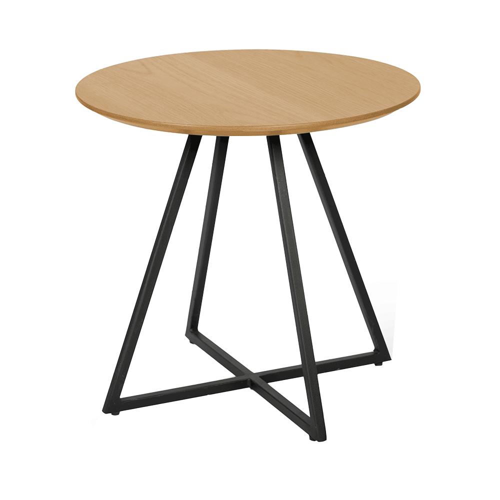 Príručný stolík, dub/čierna, DELIK