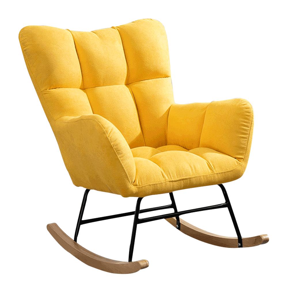 Designové houpací křeslo, žlutá, KEMARO, TEMPO KONDELA
