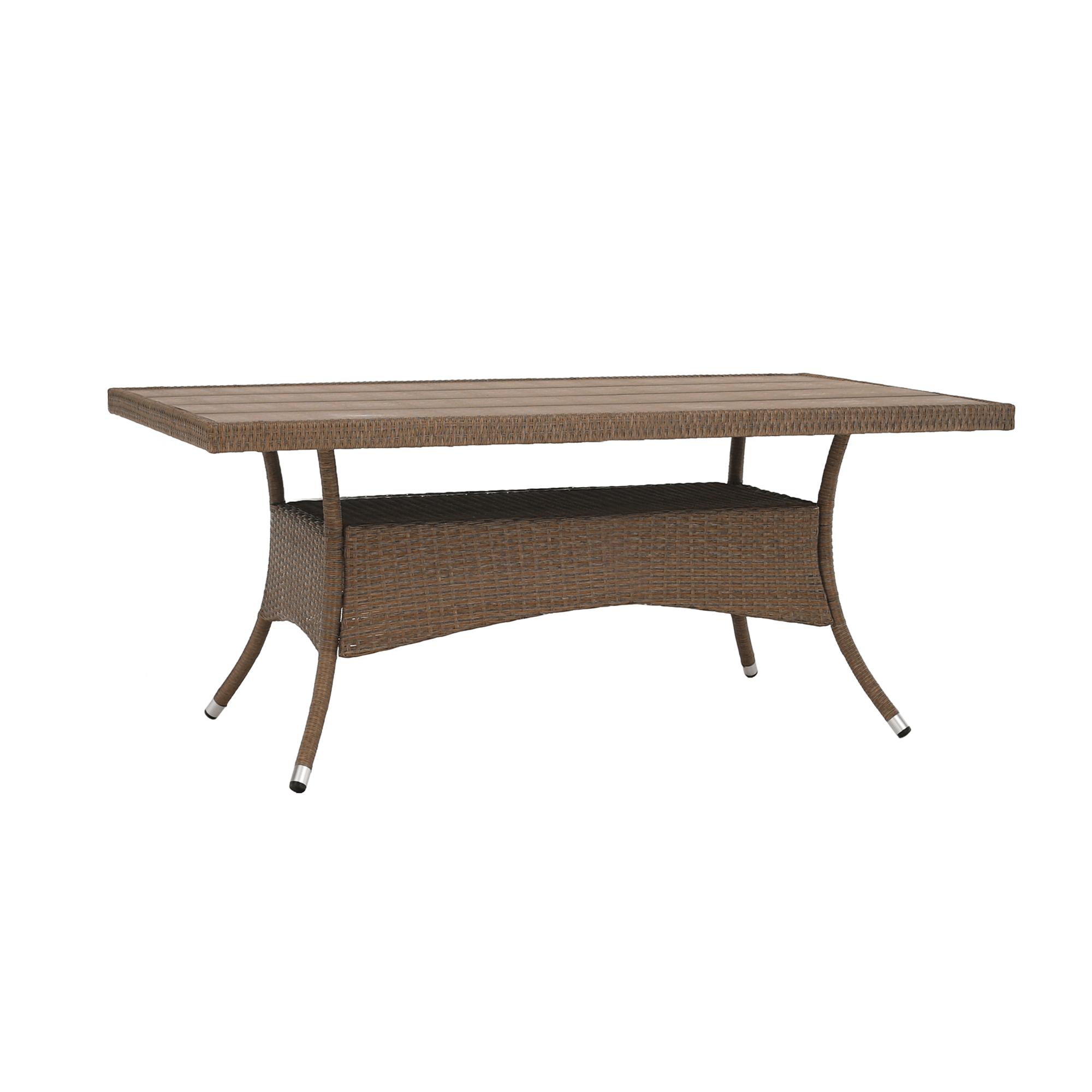 Záhradný ratanový stôl, 150cm, STRIB