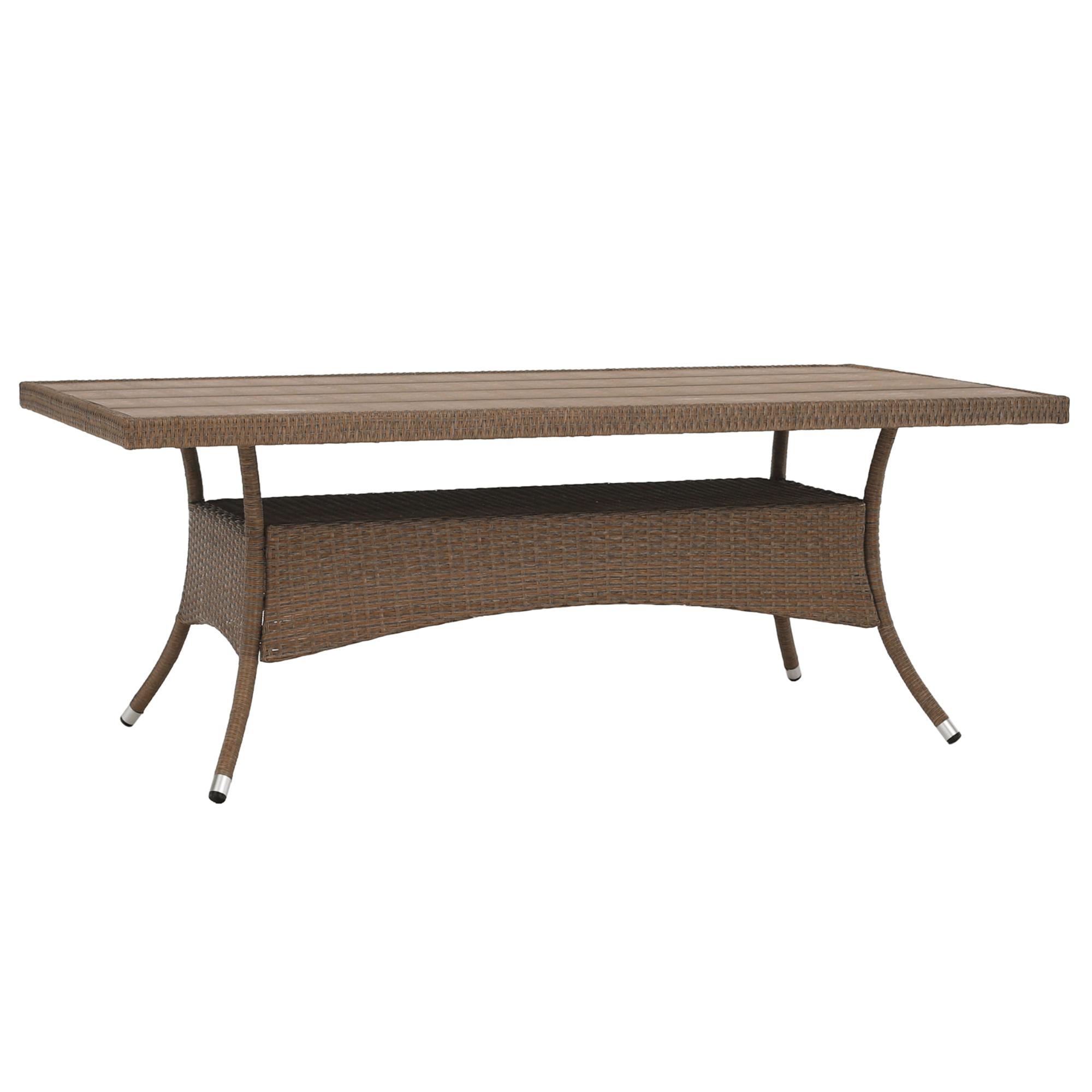 Záhradný ratanový stôl, 200cm, STRIB