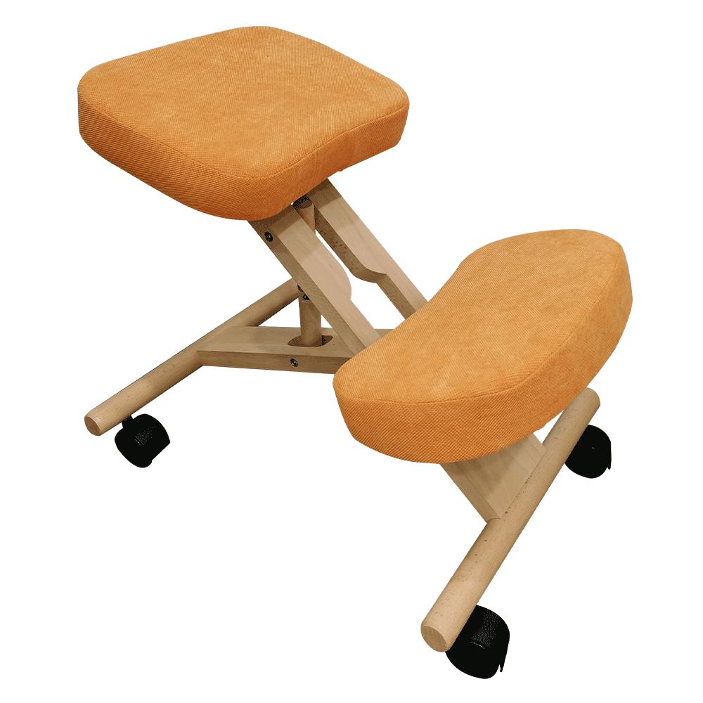 Scaun ergonomic, portocale/ fag, FLONET