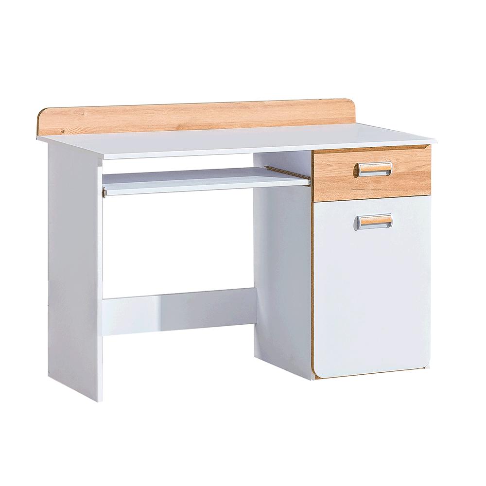 Masă PC, alb/stejar nash, EGO L10