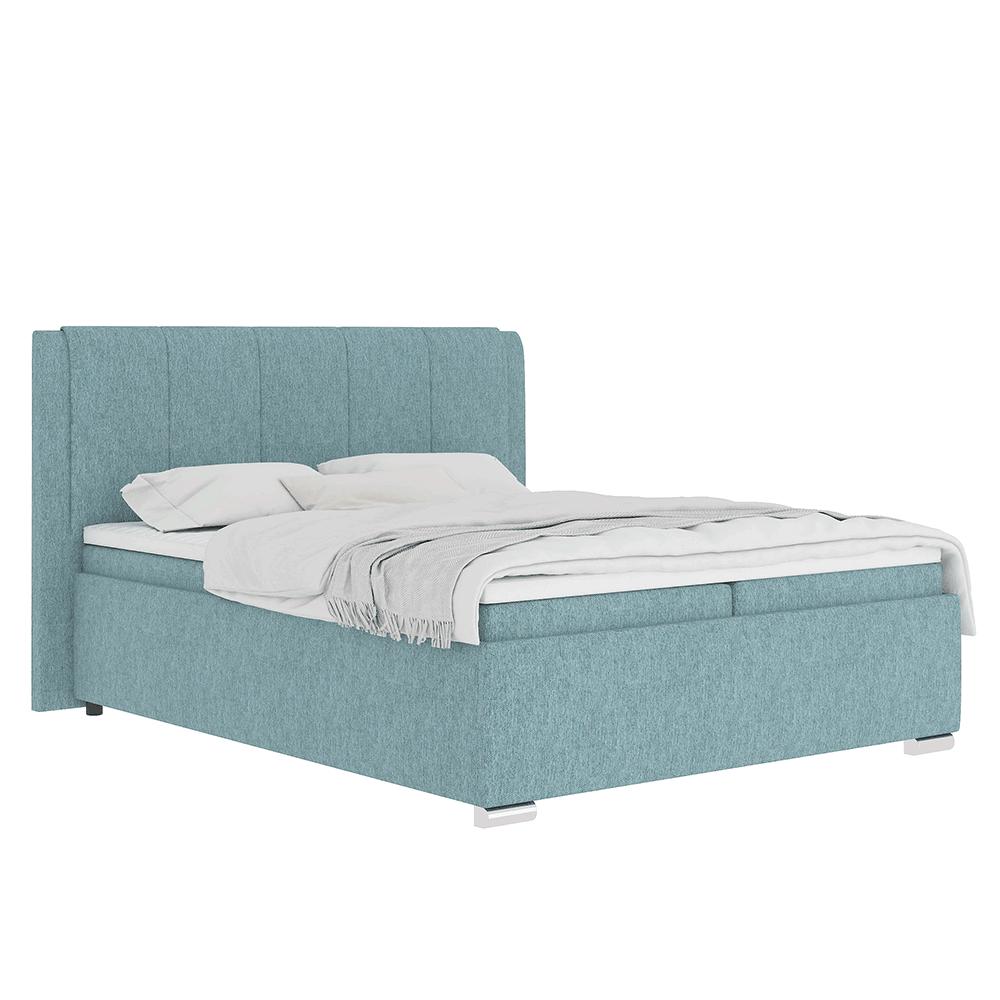 Boxspringová posteľ 160x200, mentolová, LORENA