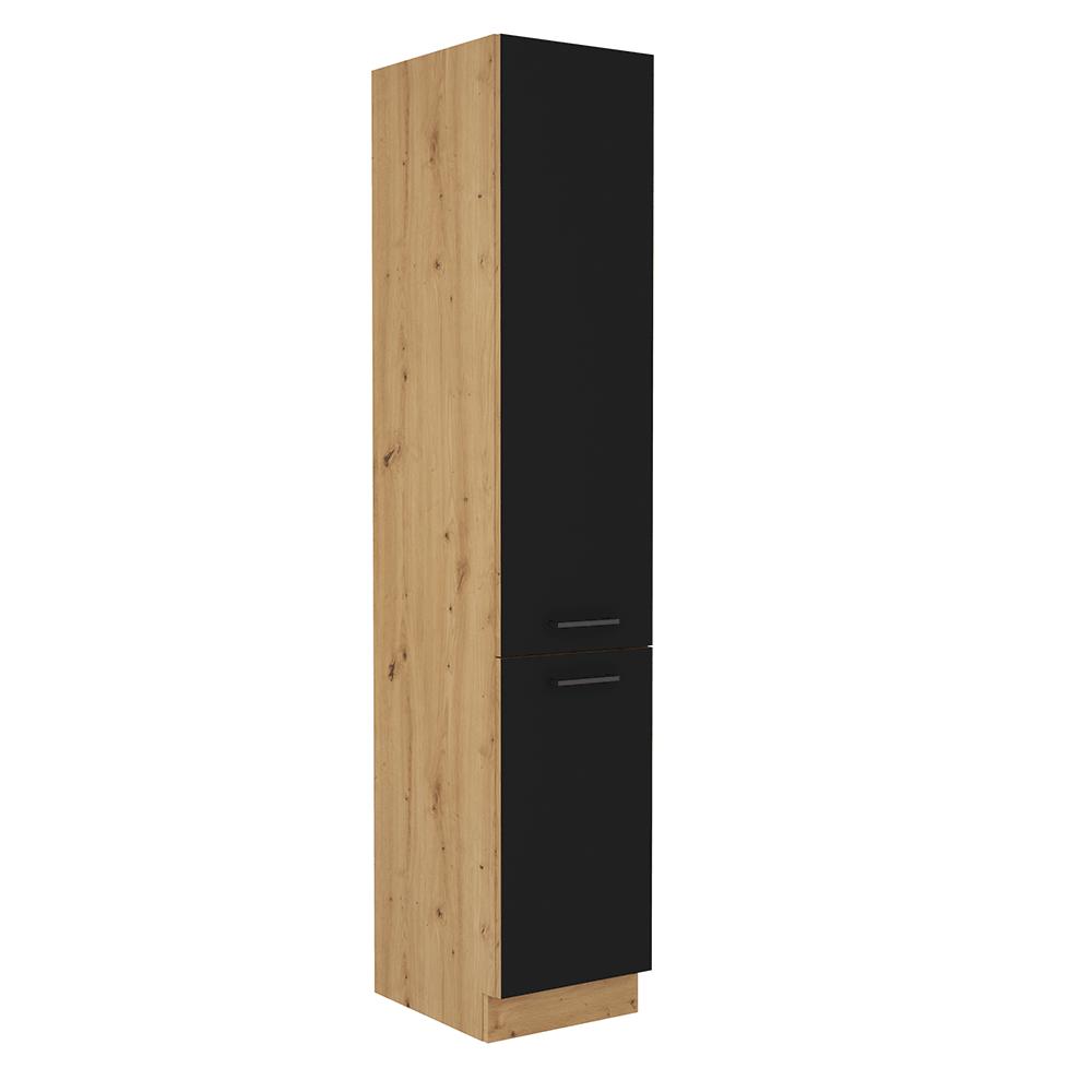 Potravinová skrinka, čierny mat/dub artisan, MONRO 40 DK-210 2F