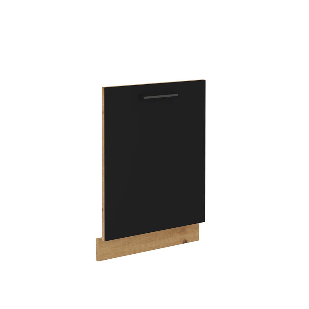 Dvierka na umývačku riadu, čierny mat/dub artisan, MONRO ZM 713x596