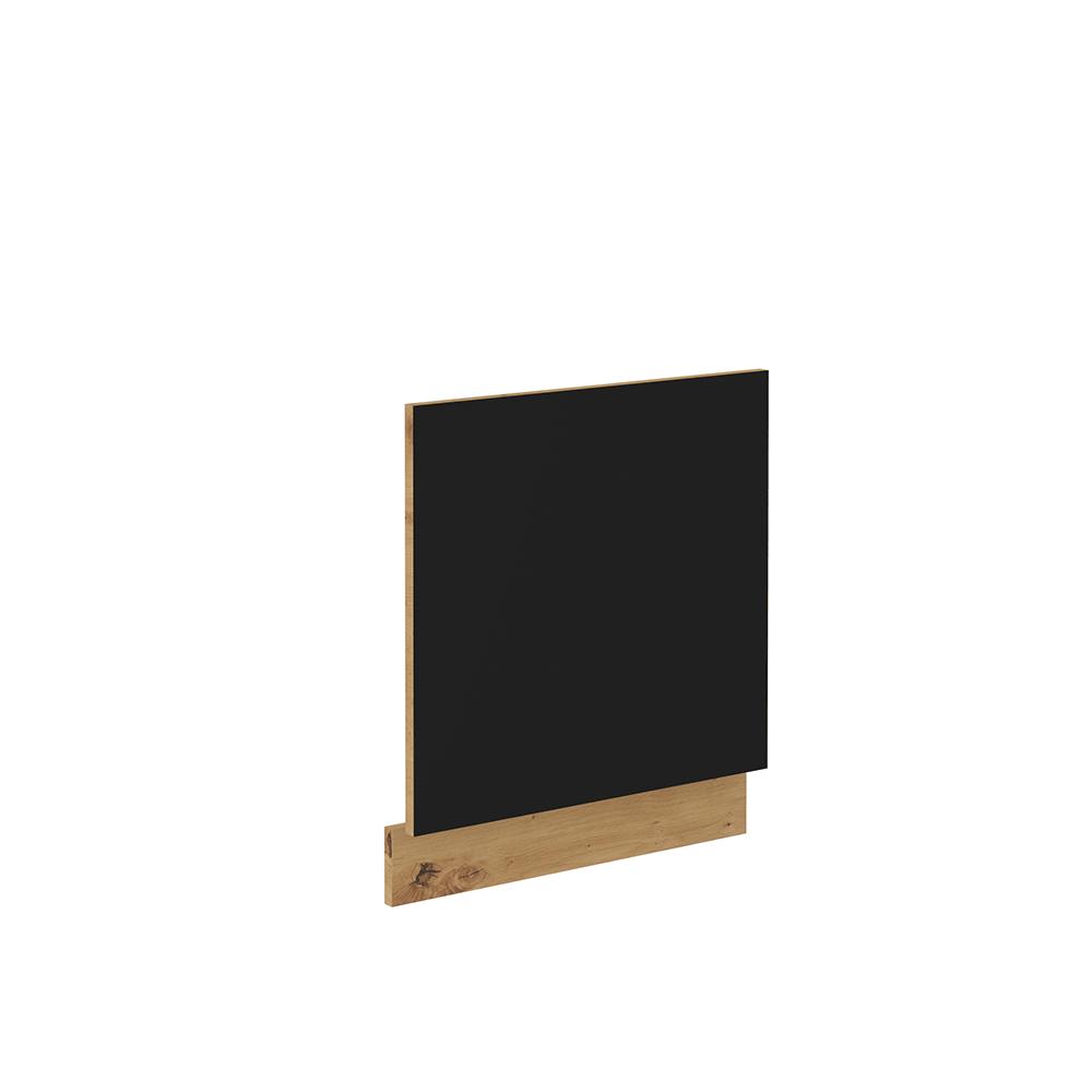 Dvierka na umývačku riadu, čierny mat/dub artisan, MONRO ZM 570x596