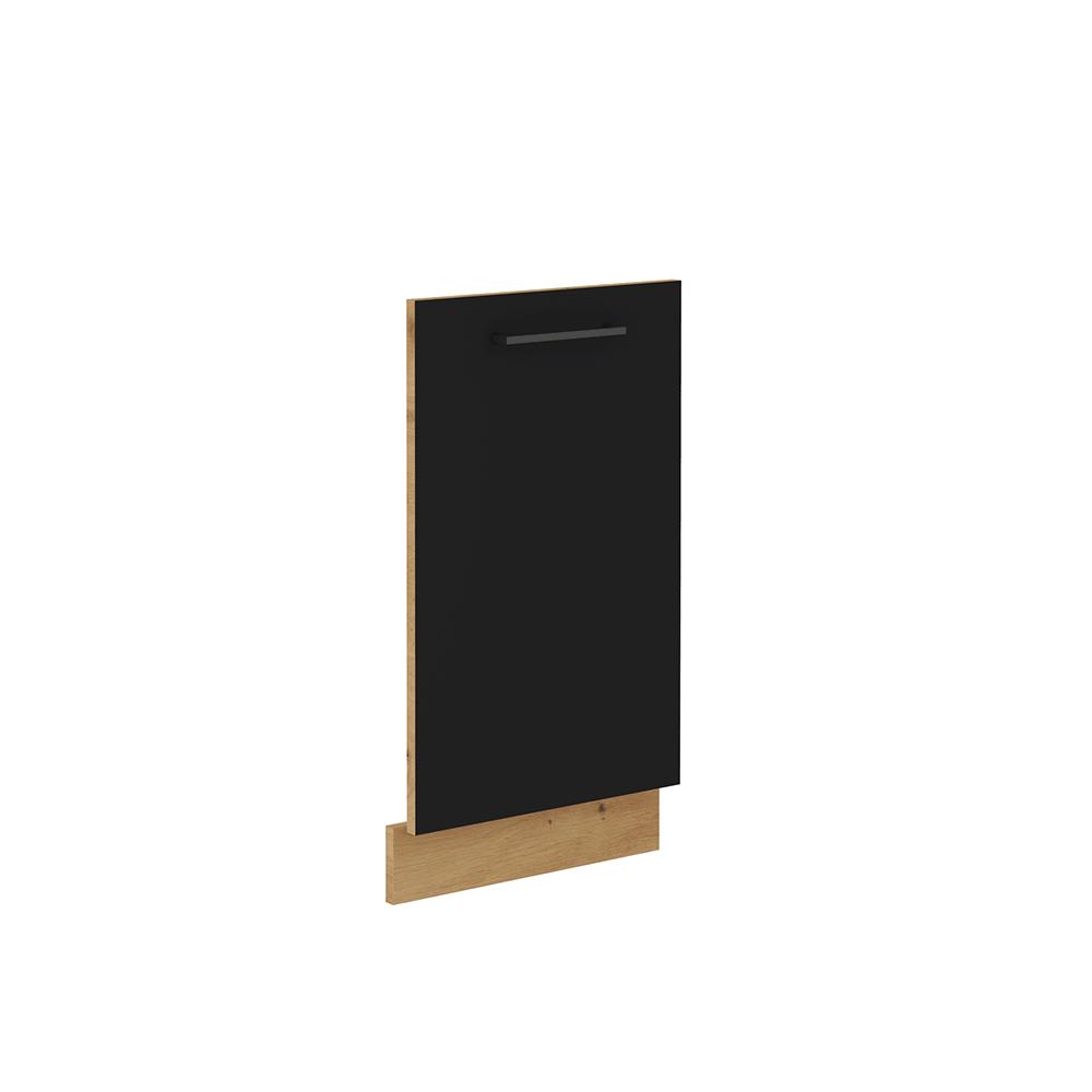 Dvierka na umývačku riadu, čierny mat/dub artisan, MONRO ZM 713x446