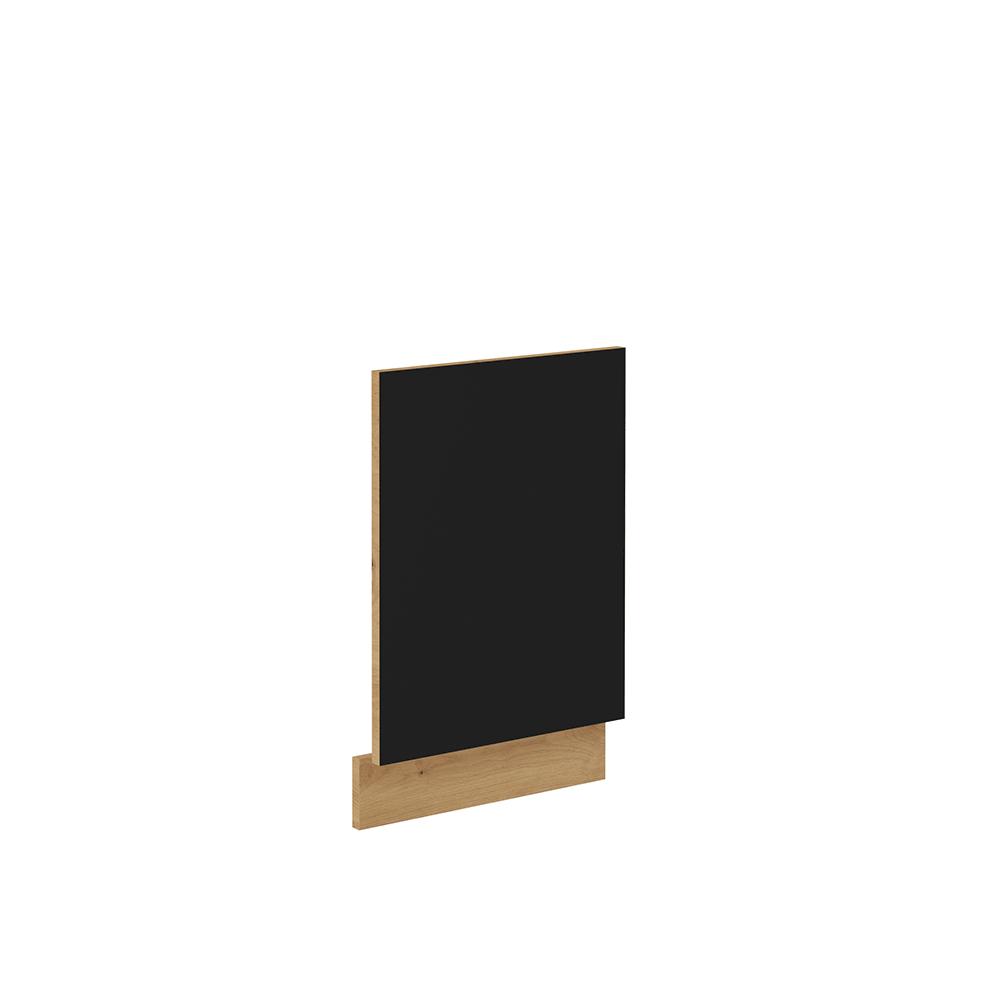 Dvierka na umývačku riadu, čierny mat/dub artisan, MONRO ZM 570x446