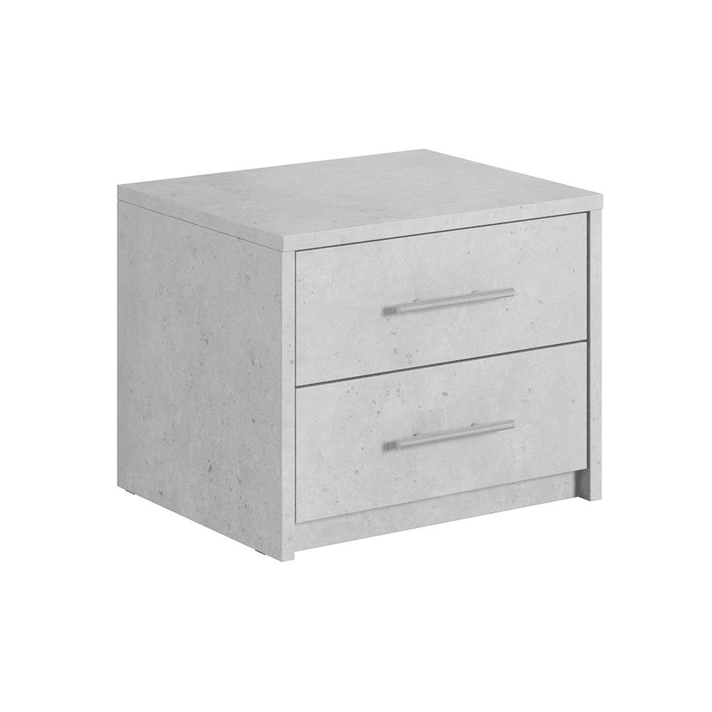 Nočný stolík, ABS hrany, sivý betón, ALDEN
