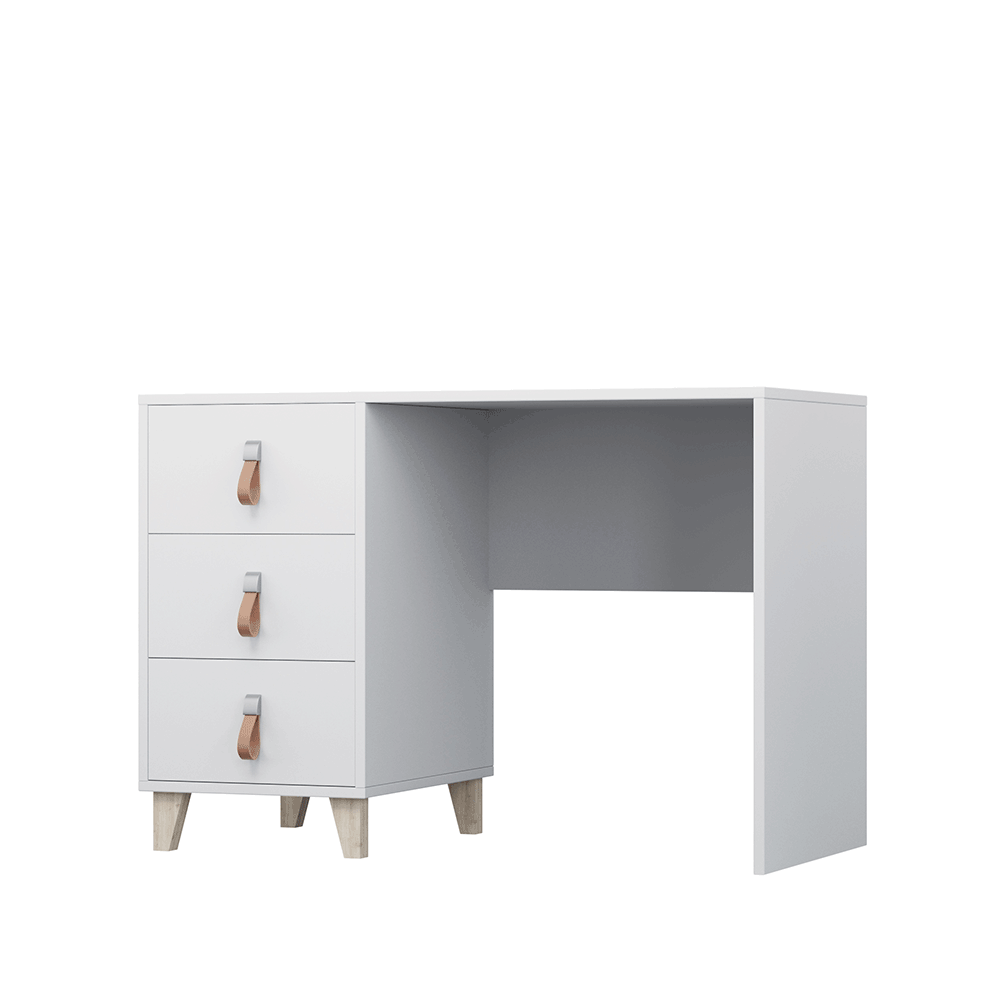 PC stôl, biela, ABS hrany, FIERA