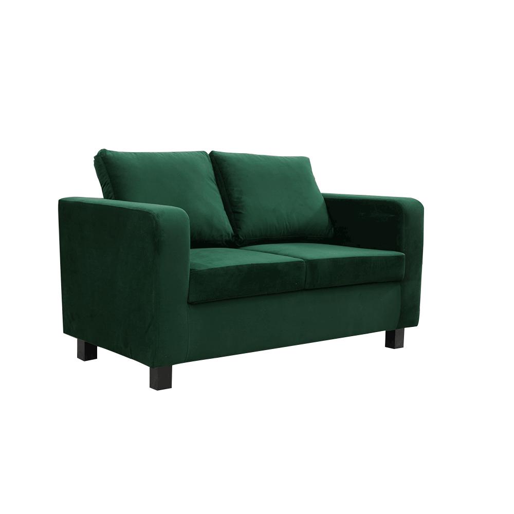 Canapea complet tapiţată, ţesătură smarald, LUANA
