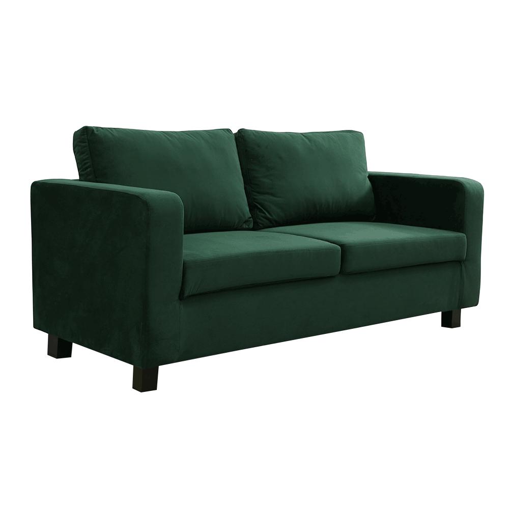 Celočalúnená pohovka, 3-sed, smaragdová látka, LUANA
