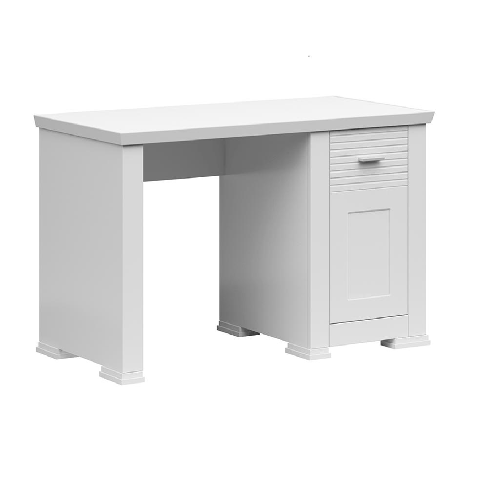 PC stôl, biela, ARYAN