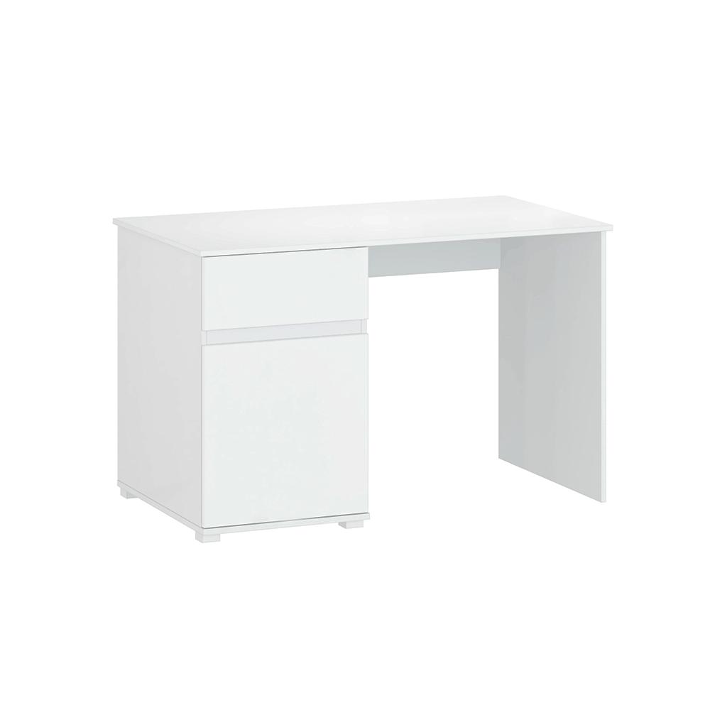 Birou PC 1D1S / 120, alb lucios, LINDY
