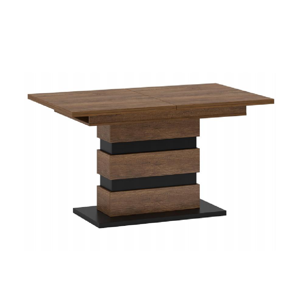 Rozkladací jedálenský stôl, dub bolzano/čierna, DELIS S