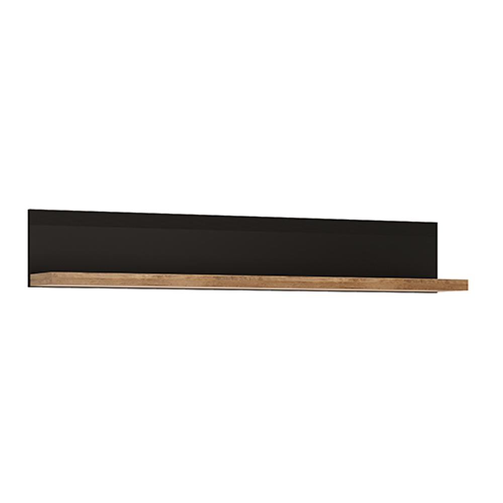 Raft, stejar lefkas închis / negru mat, LUCITA HAVD01