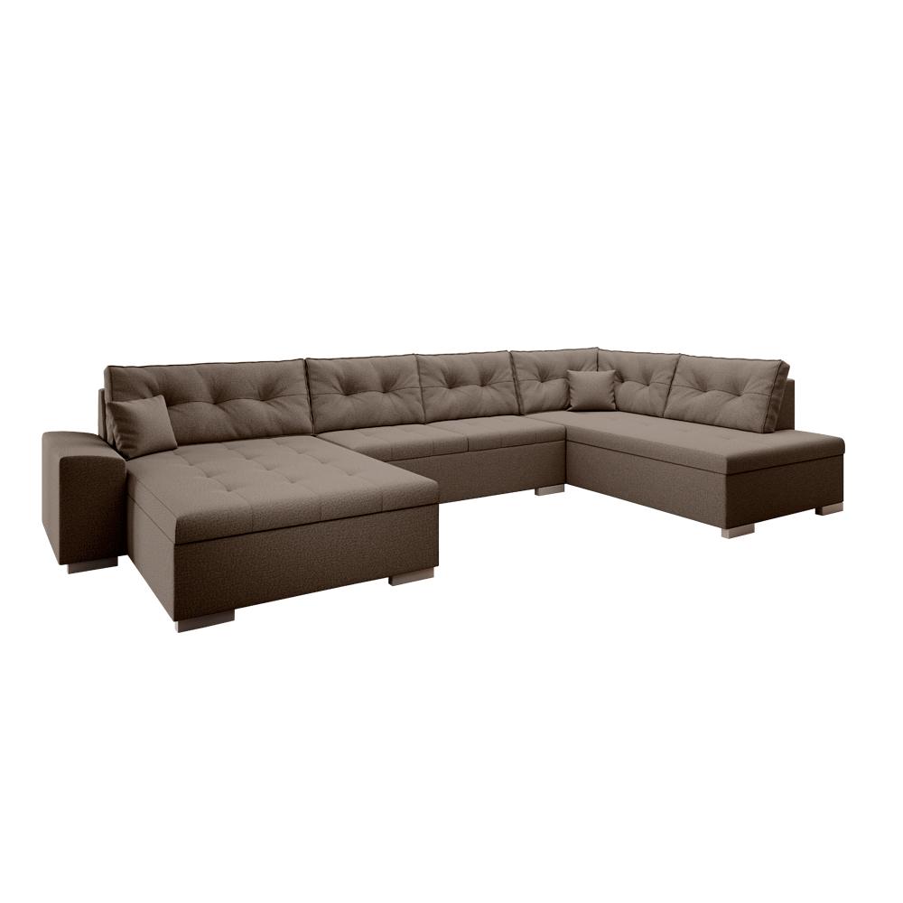 Canapea în formă de U, ţesătură maro, dreapta, VITOS