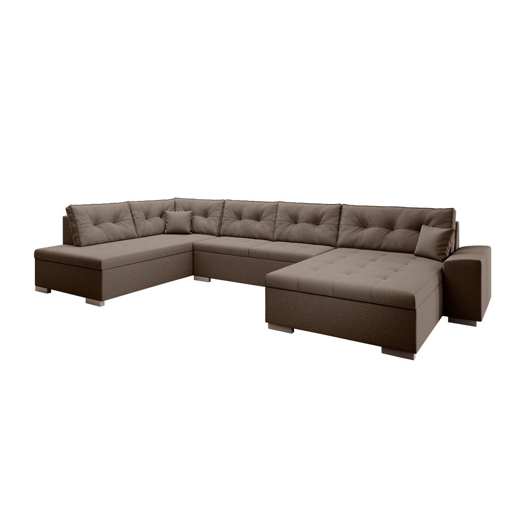 Canapea în formă de U, ţesătură maro, stânga, VITOS