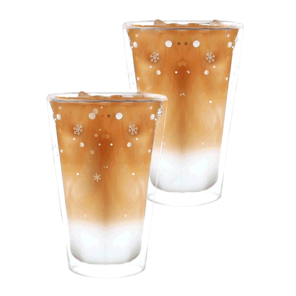 Cupe termo, set de 2, cu fulgi, 400 ml, HOTCOLD TIP 34