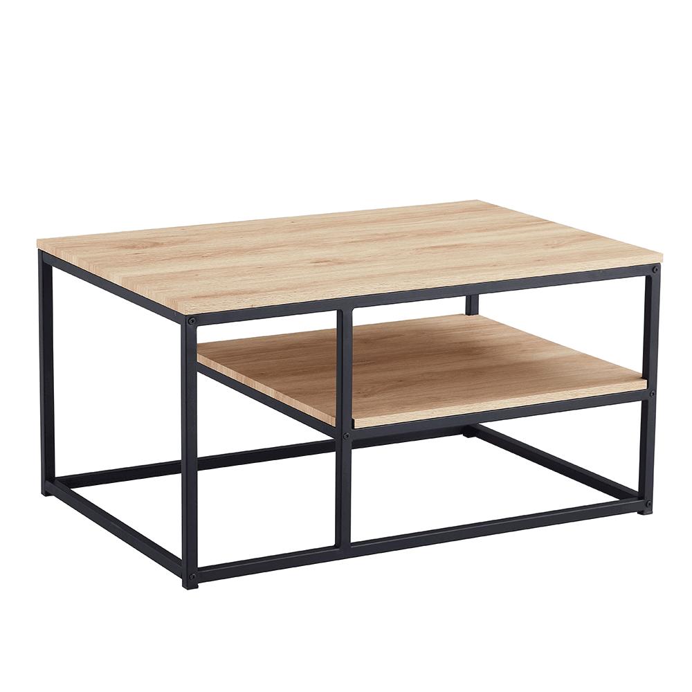 Konferenční stolek, dub sonoma / černá, BARMIO