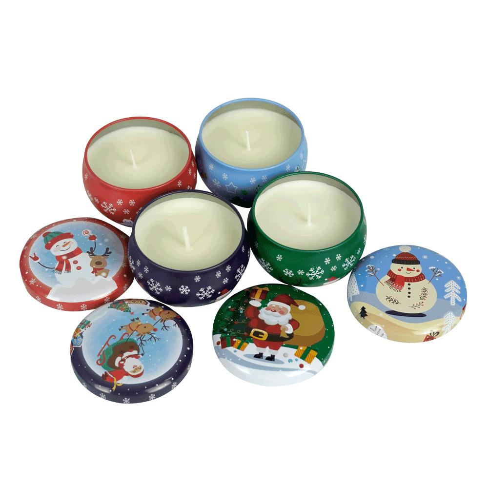 Lumânări parfumate de Crăciun, set de 4, 540 g, MAGDALENKA