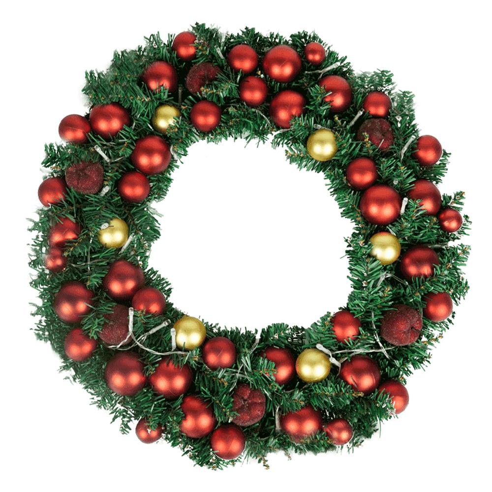 Coroniță de Crăciun cu lumini și decorațiuni LED, ARLO