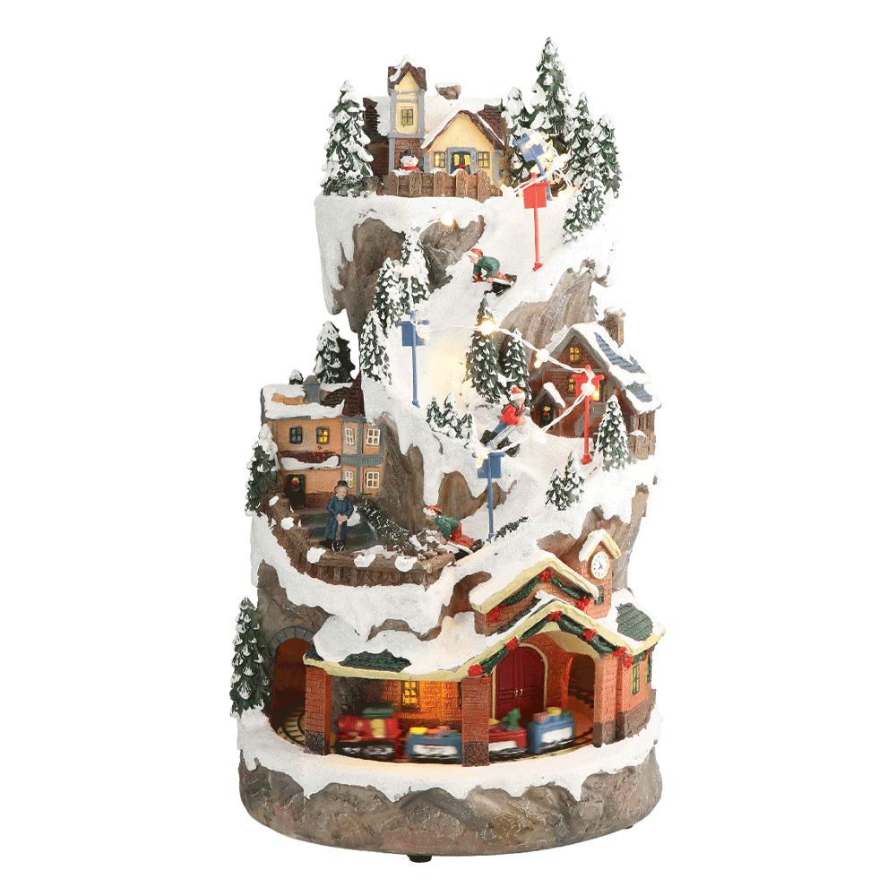 Carusel muzical de Crăciun, alb, negru / motiv de Crăciun, JOACHIM