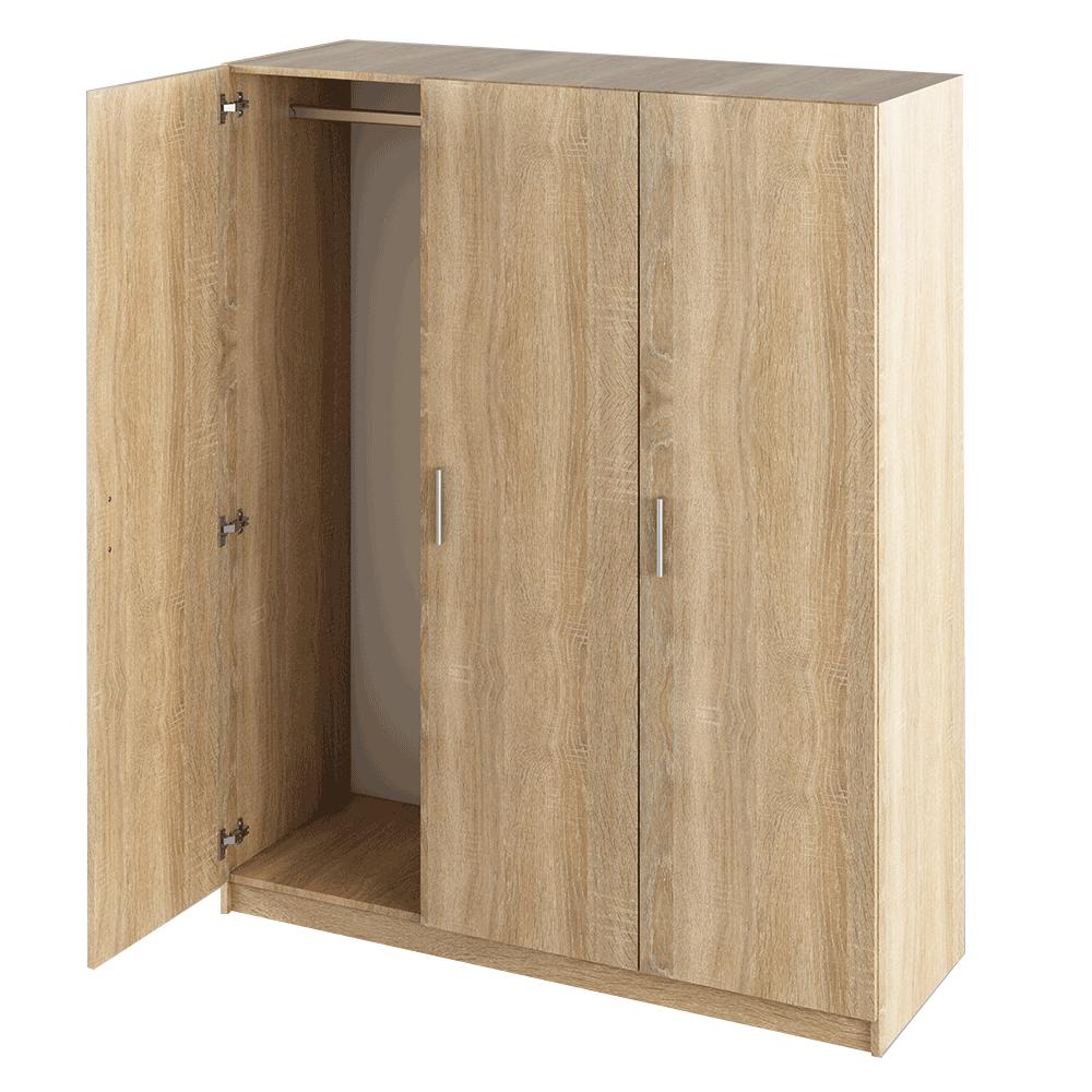 3 ajtós szekrény, sonoma tölgy, GREEN