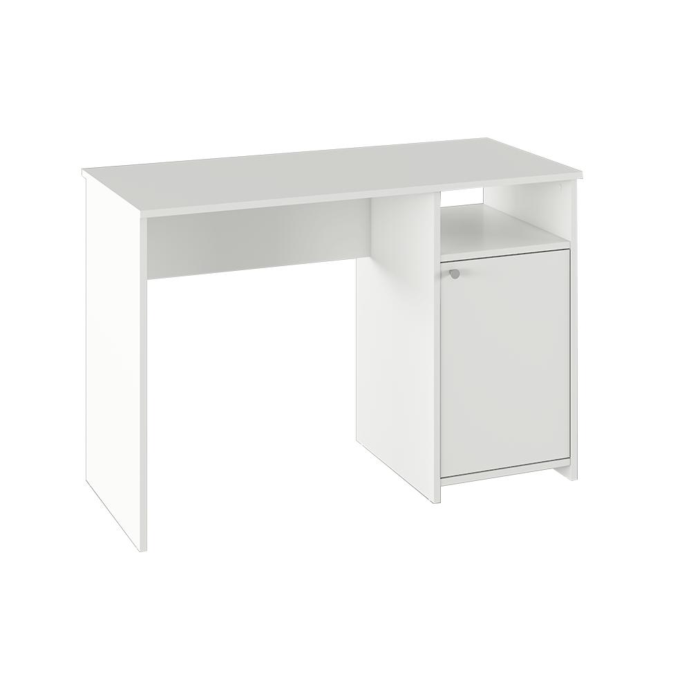Számítógépasztal, fehér, DEDE
