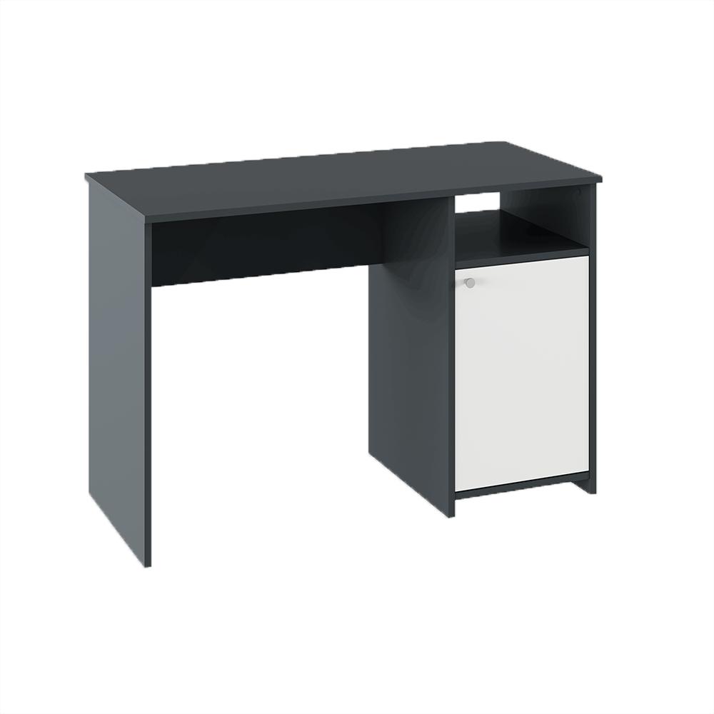 Számítógépasztal, grafit/fehér, DEDE