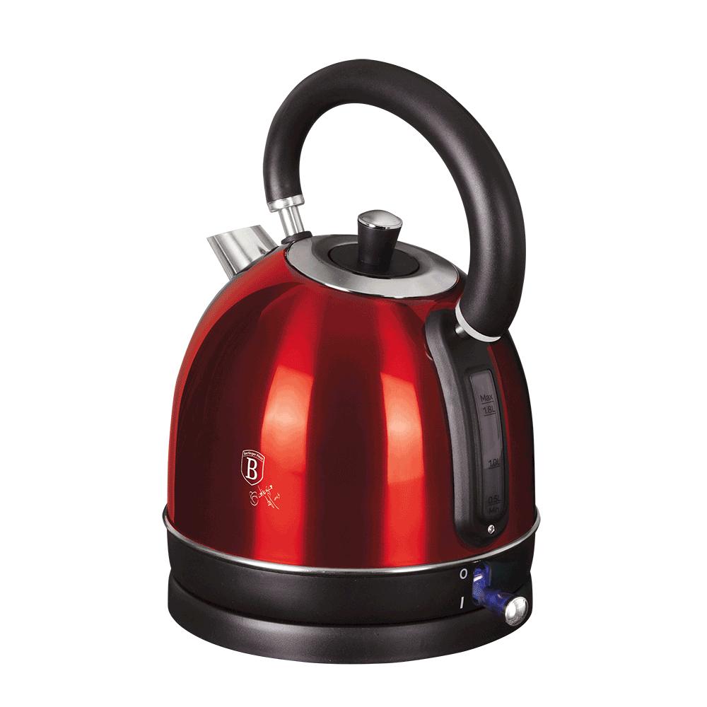 Rýchlovarná kanvica, 1,8l, metalická červená burgundy, BERLINGERHAUS BH-9334