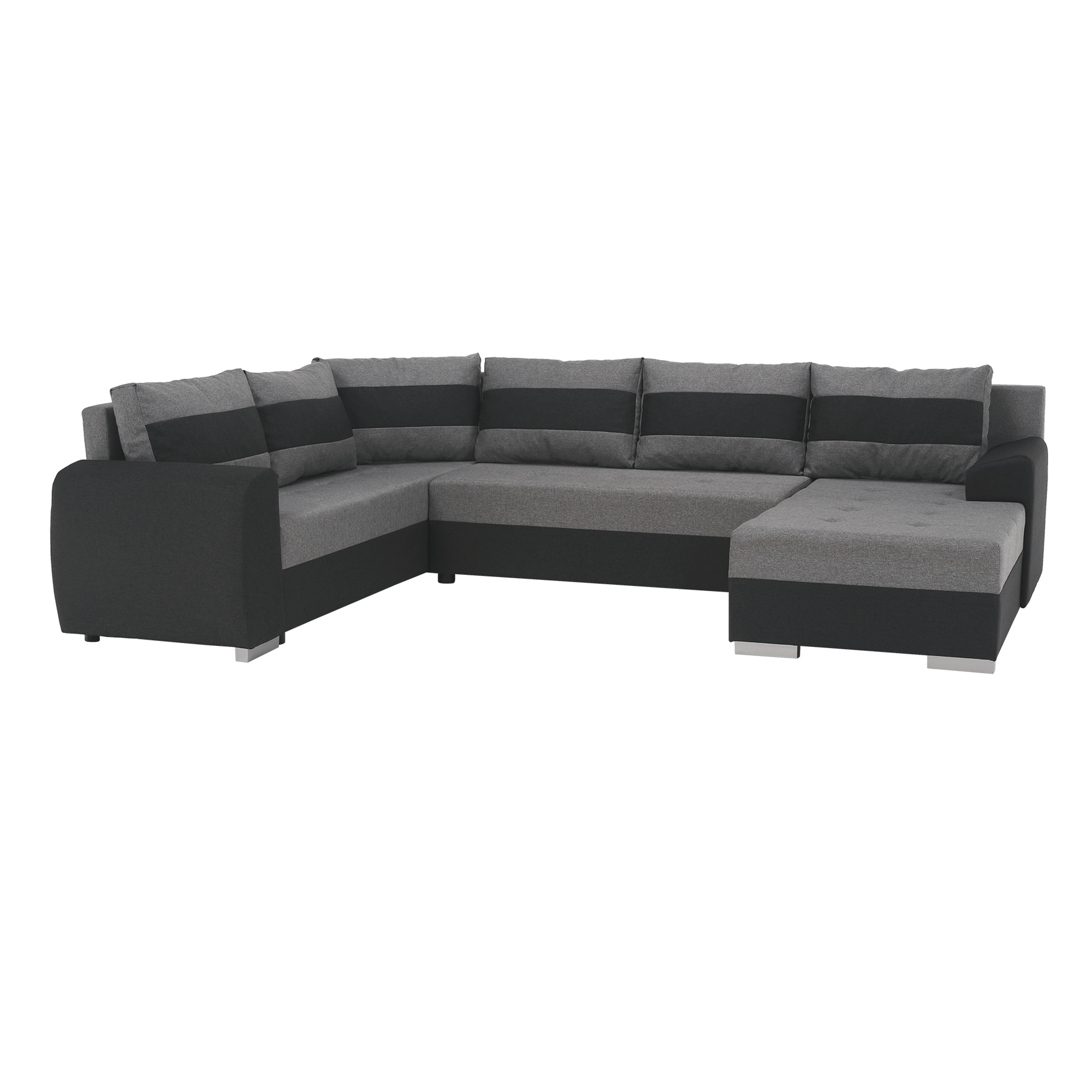 Canapea universală, gri închis / gri, BONN