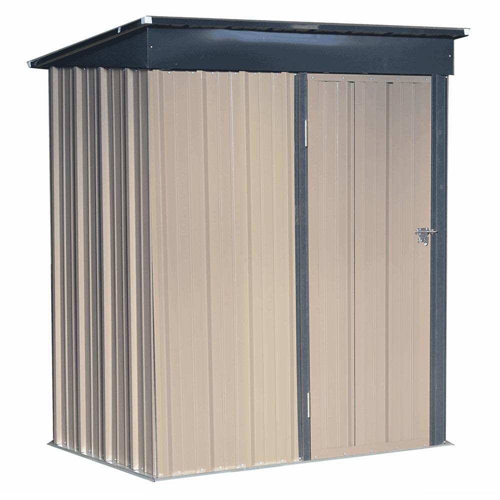 Plechový záhradný domček na náradie, hnedá/čierna, 1,6x0,9 m, NELON