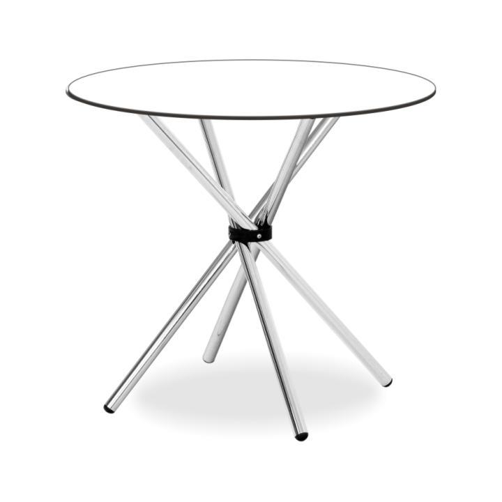 Étkezőasztal, edzett üveg/króm, VRATKO