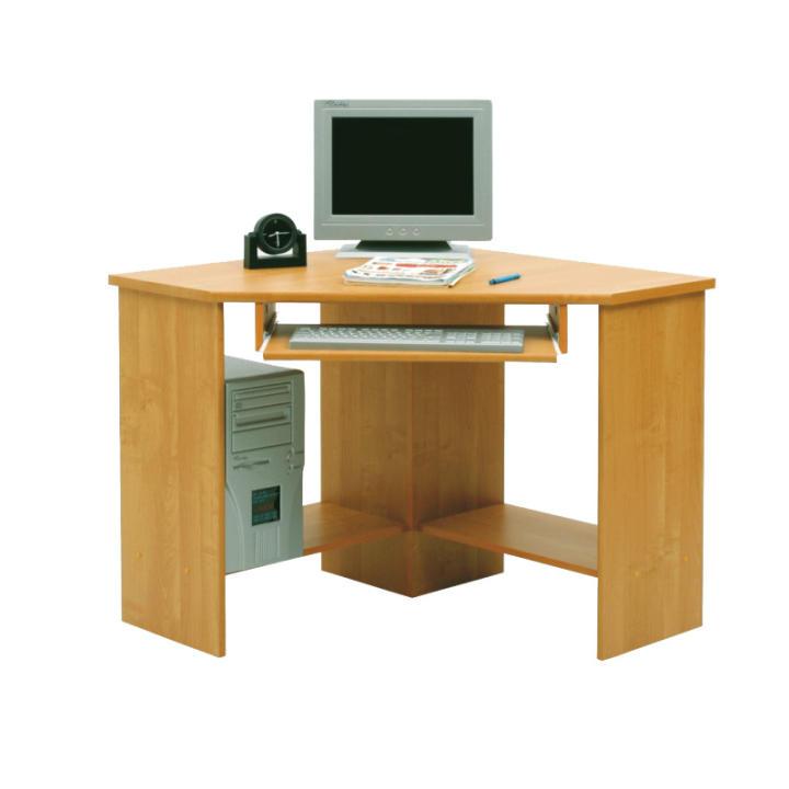 Sarok számítógépasztal, bükkfa, B3