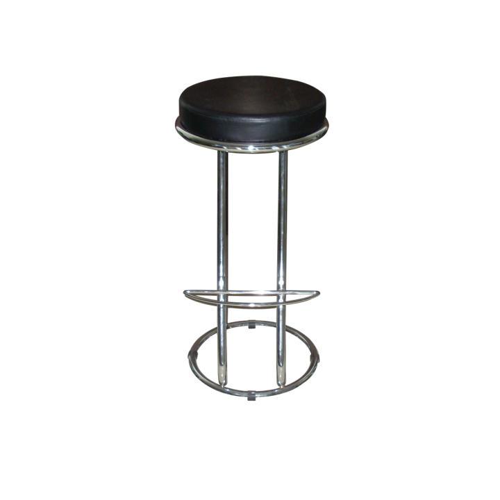 TEMPO KONDELA Barová stolička, ekokoža čierna/chróm, ZETA - VIRGINI - Tempo nábytek
