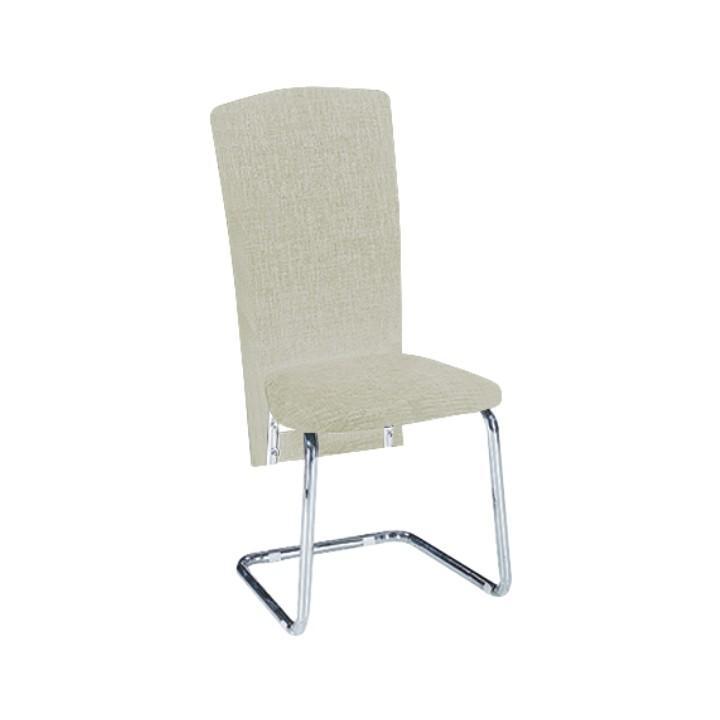 TEMPO KONDELA Jedálenská stolička, ekokoža béžová/chróm, JULY - Tempo nábytek
