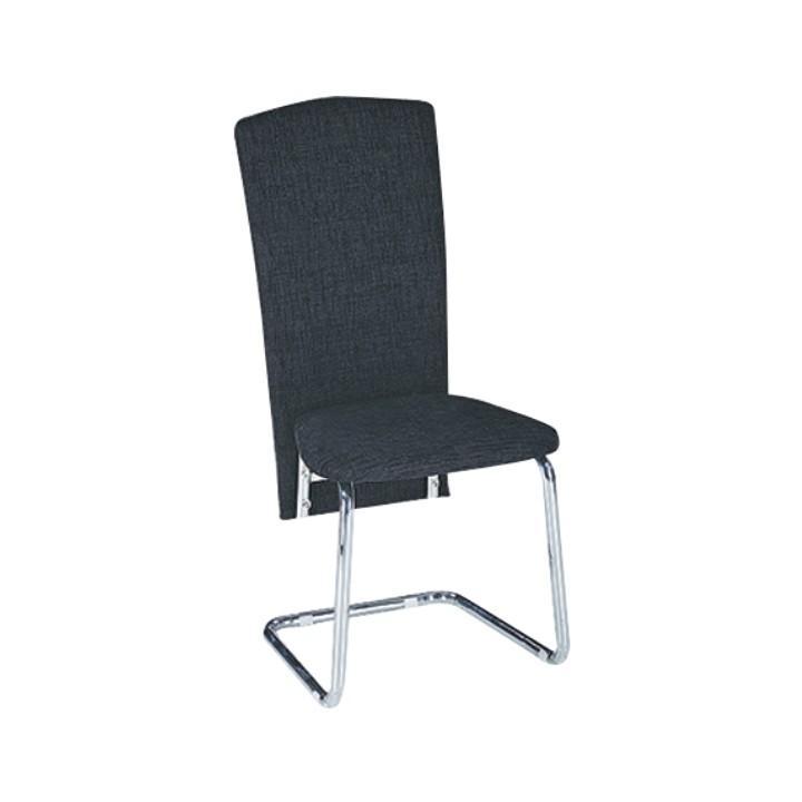 Étkező szék, fekete textilbőr/króm, JULY