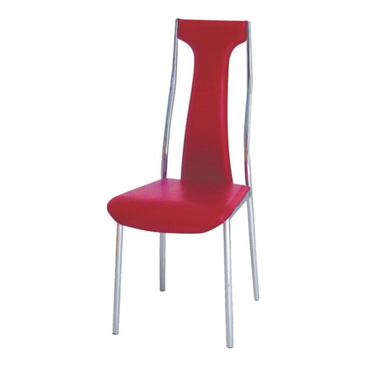 Krómozott szék, piros textilbőr, RIA - IRIS