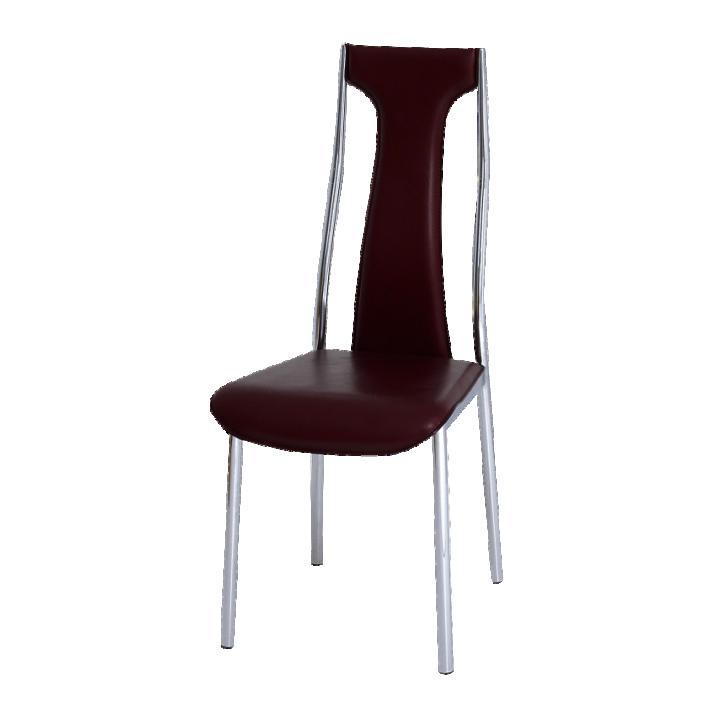 Krómozott szék, bordó textilbőr, RIA - IRIS