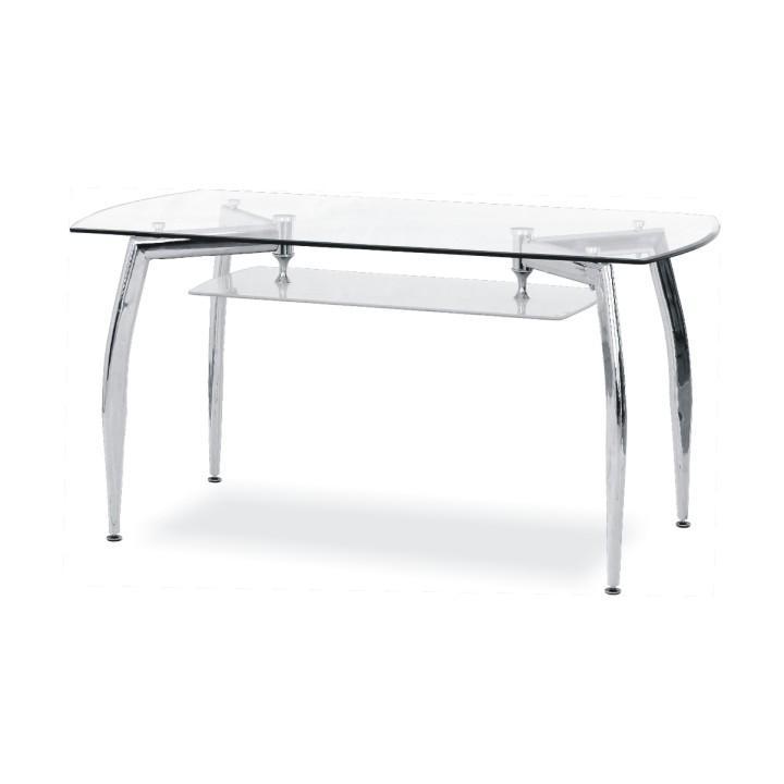 Luxus étkezőasztal krómozot lábakkal, edzett üveg, RAMZES - NEW