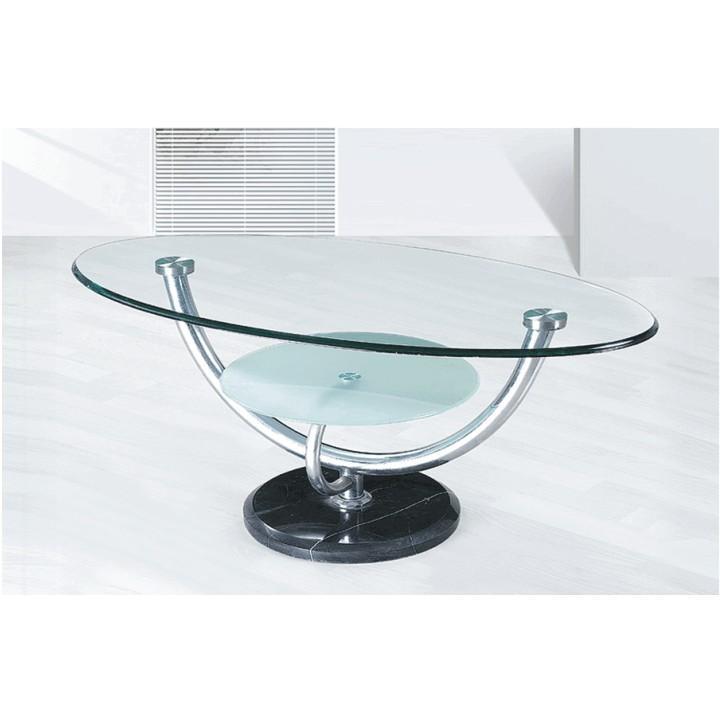 Konferenčný stolík, chróm/sklo, MATT