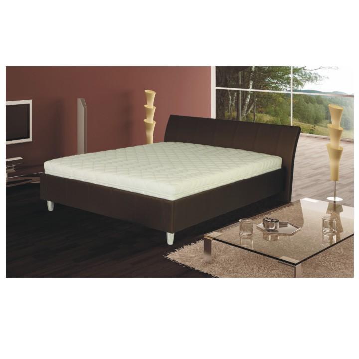Manželská posteľ, ekokoža hnedá, 180x200, DIEGO